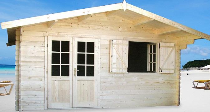 Abri de jardin bois en kit madriers 40 mm mod le lyon 20 m - Abri jardin hoggar lyon ...