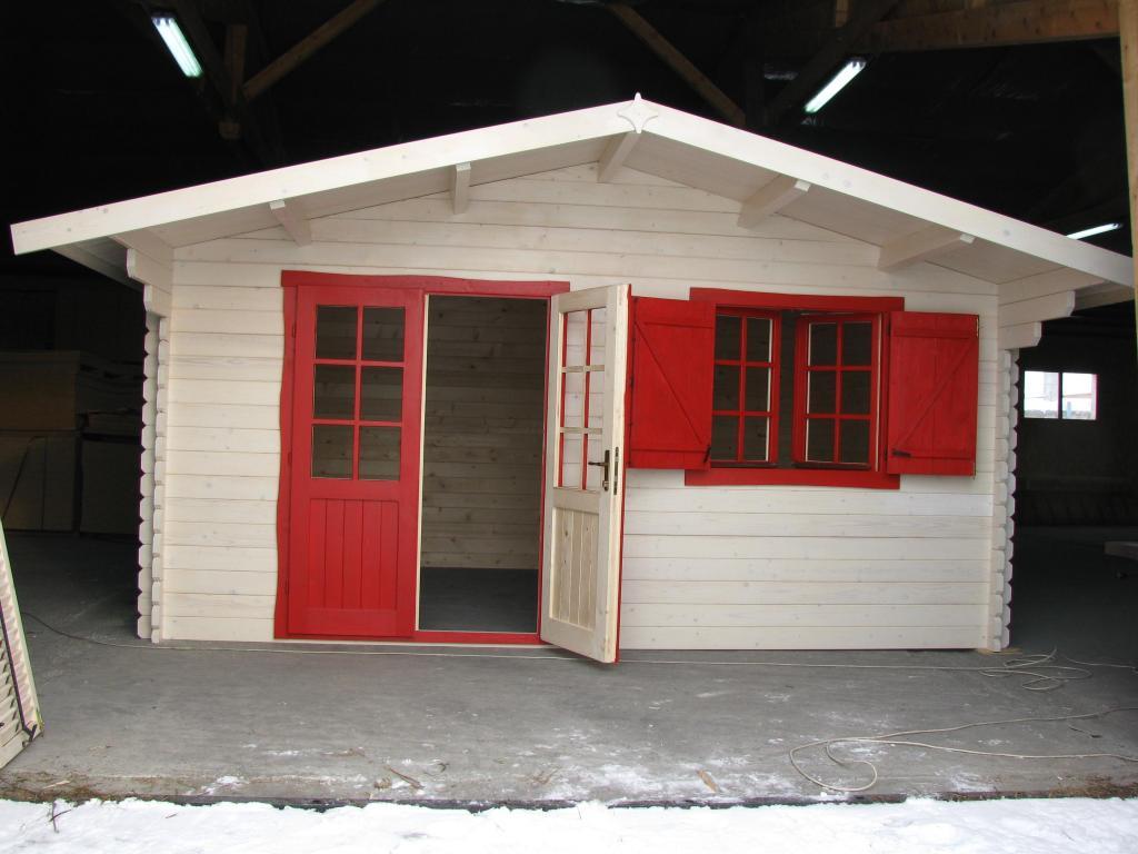 Abri de jardin bois en kit madriers 40 mm mod le lyon 20 m for Abri de jardin permis de construire