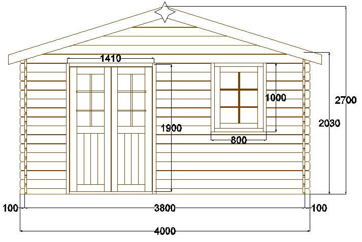 plan cabane de jardin en bois gratuit. Black Bedroom Furniture Sets. Home Design Ideas