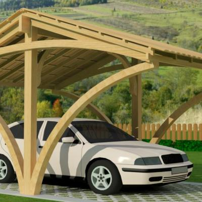 Notre gamme d 39 abris voiture de garages en bois direct usine for Garage ford val de marne