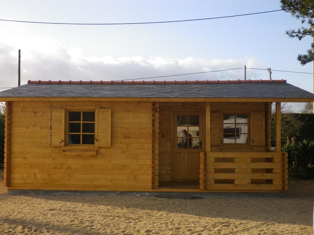 Kit chalet habitable de loisirs en madriers bois de 40 m2 - Abri de jardin habitable avec mezzanine strasbourg ...