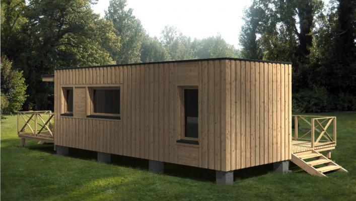 fabrication de construction modulaires ossature bois. Black Bedroom Furniture Sets. Home Design Ideas