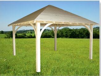 notre kiosque rectangulaire en bois de 4mx6m. Black Bedroom Furniture Sets. Home Design Ideas