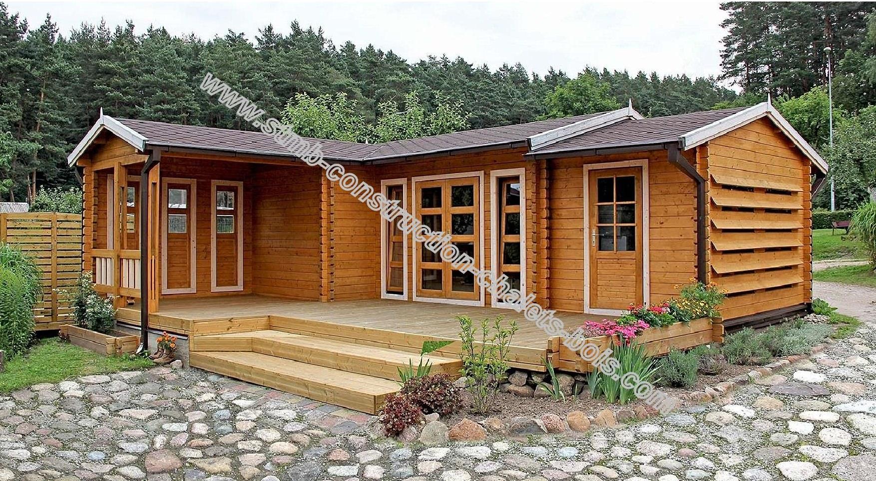 Vente de chalet bois en kit stmb construction chalets bois - Chalet de jardin occasion a vendre ...