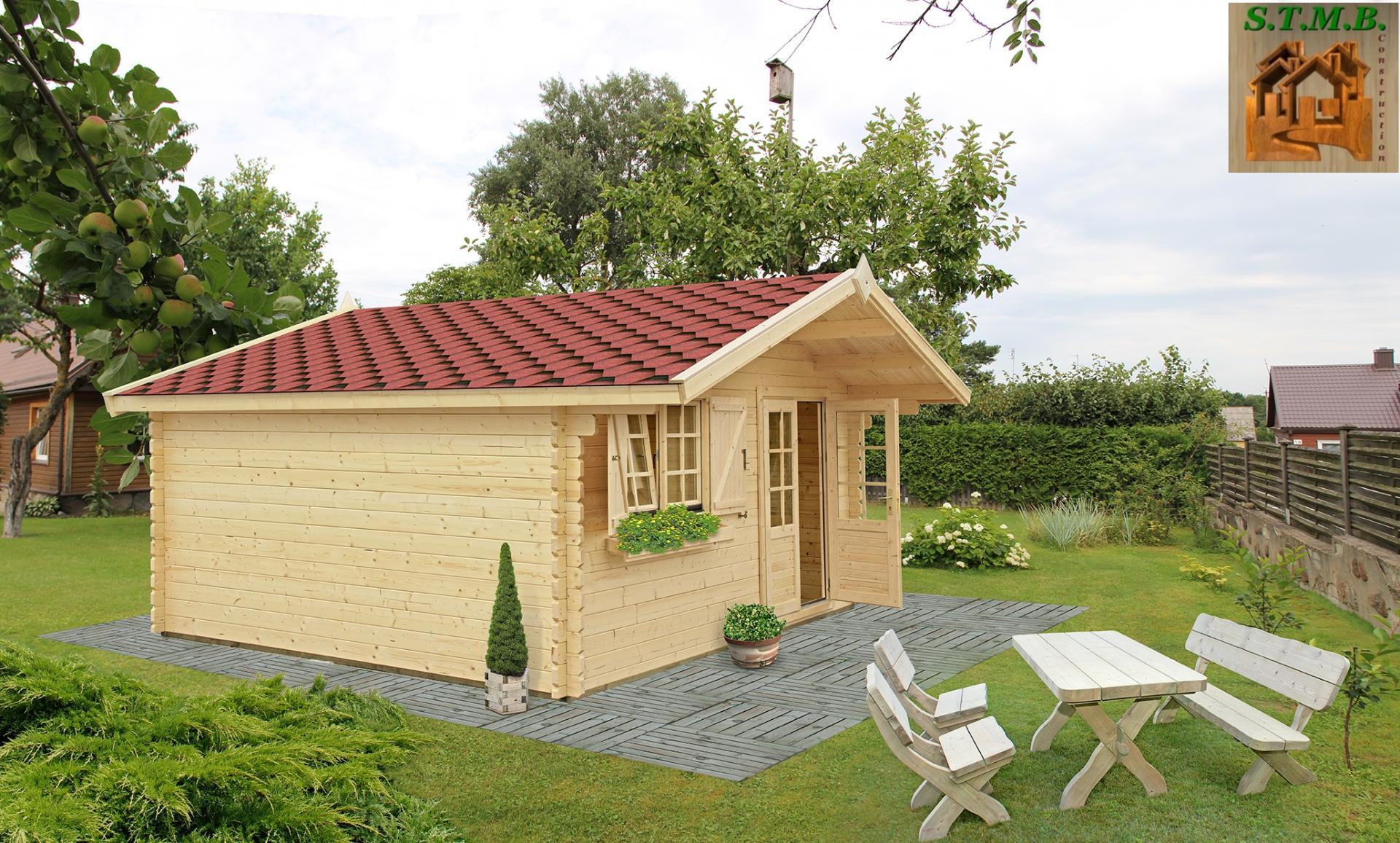 Kit chalet en bois habitable de loisirs laurier 20 de 20 m stmb construction for Abri de jardin guadeloupe
