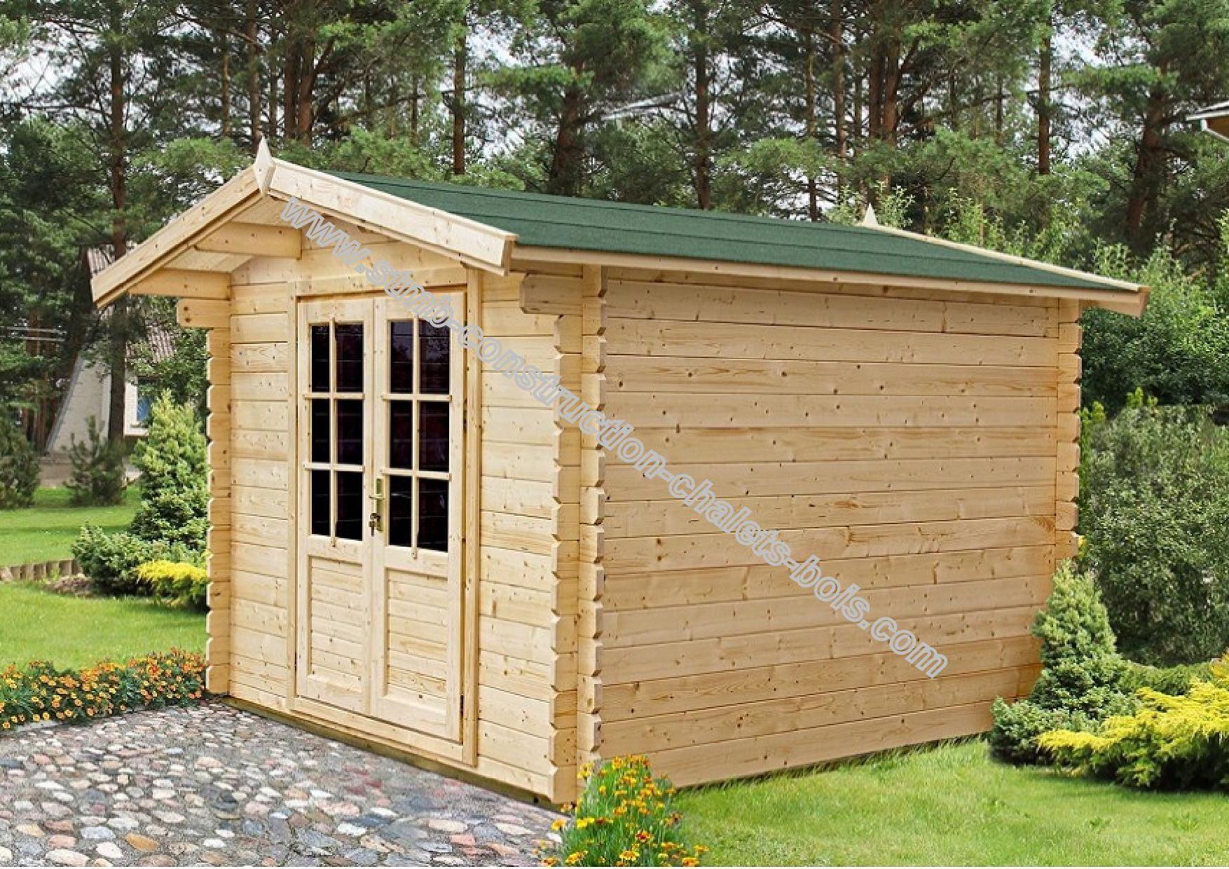 Chalet de jardin bois mod le colza 7 5 m en madriers de 34 mm for Petit chalet en bois de jardin