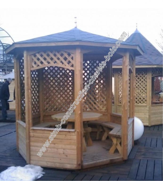 Kiosques et gloriettes de jardin bois en kit # Construire Un Kiosque En Bois