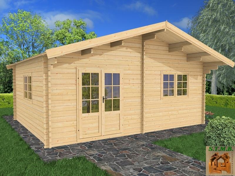 Bungalow Bois Habitable : Kit chalet en bois habitable de loisirs GENEVIER 30 m? (3 pi?ces