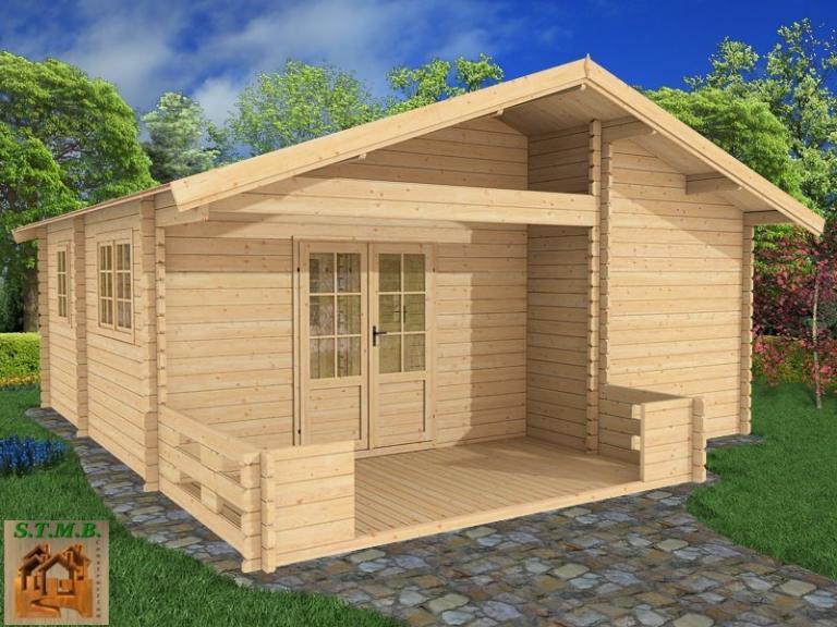 Chalet en bois habitable amiens 36 m2 avec terrasse offerte - Cabine in legno ...