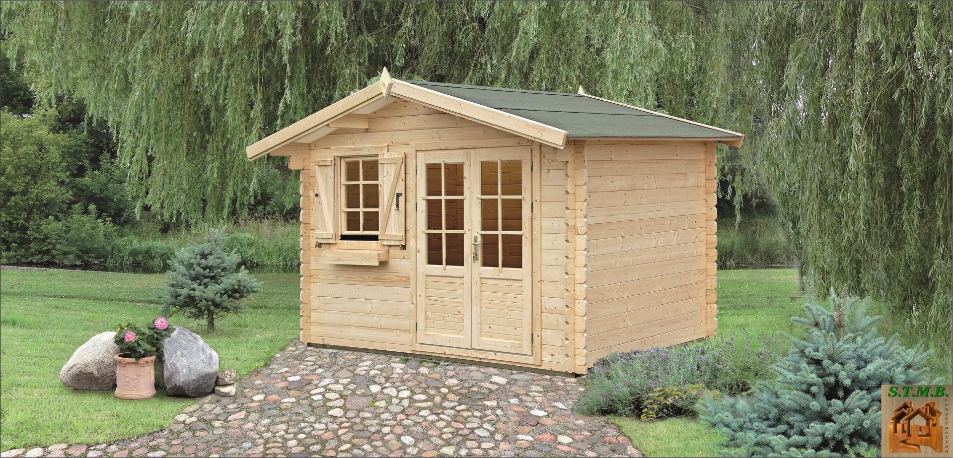 Kit chalet bois de jardin 14 m sans permis de construire - Petit chalet en bois habitable ...