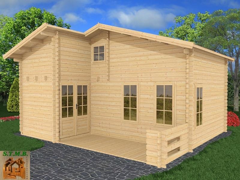 Chalet bois habitable en kit mod le orme 33 m2 avec mezzanine for Abri de jardin permis de construire