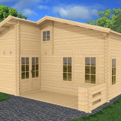 kit chalet bois sans permis de construire 20 m2 avec mezzanine. Black Bedroom Furniture Sets. Home Design Ideas