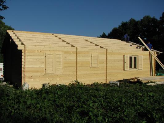 Montage kit chalet bois habitable - Construction de chalet ...
