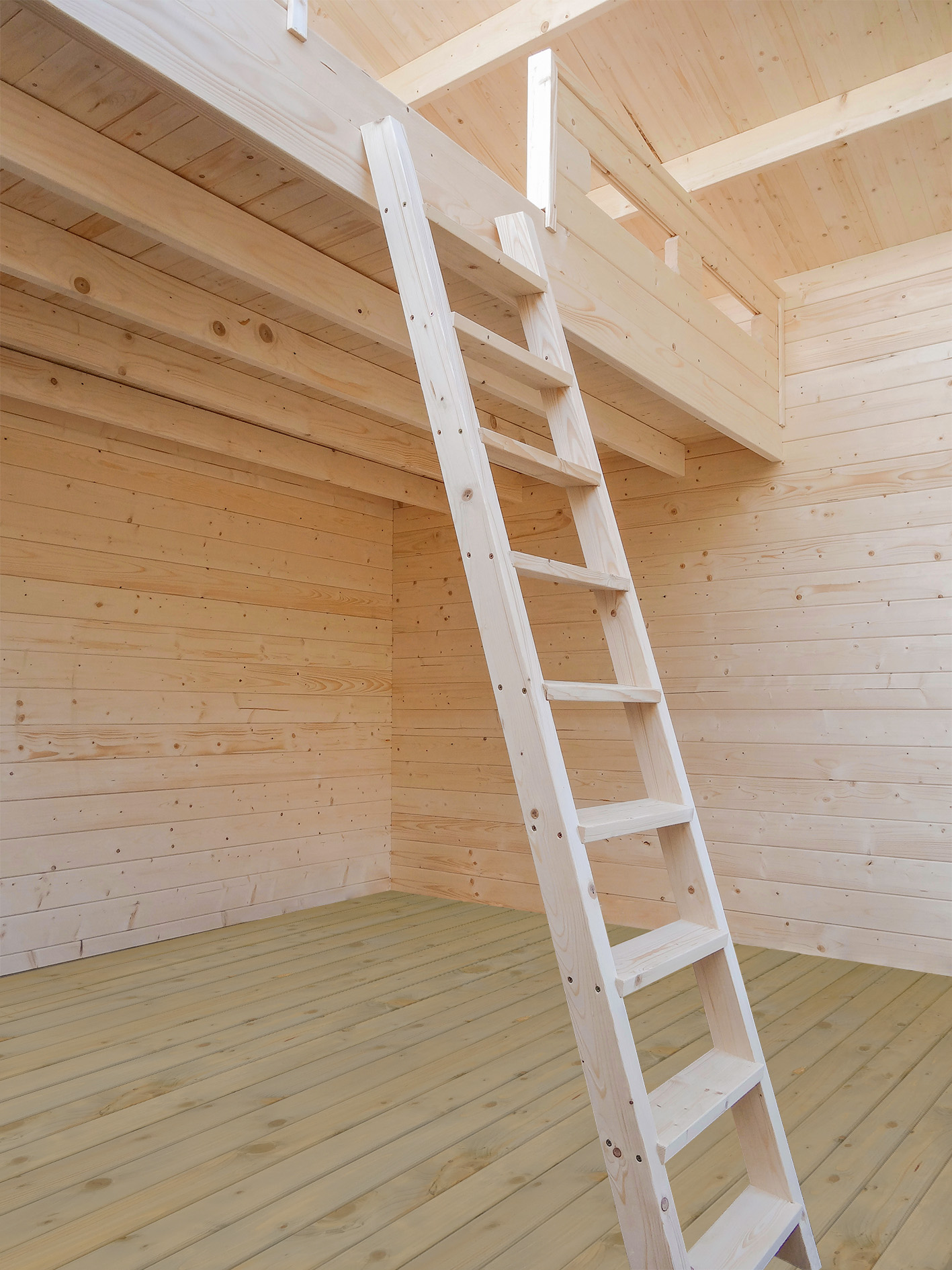 Kit chalet bois sans permis de construire 20 m2 avec mezzanine - Construire mezzanine bois ...