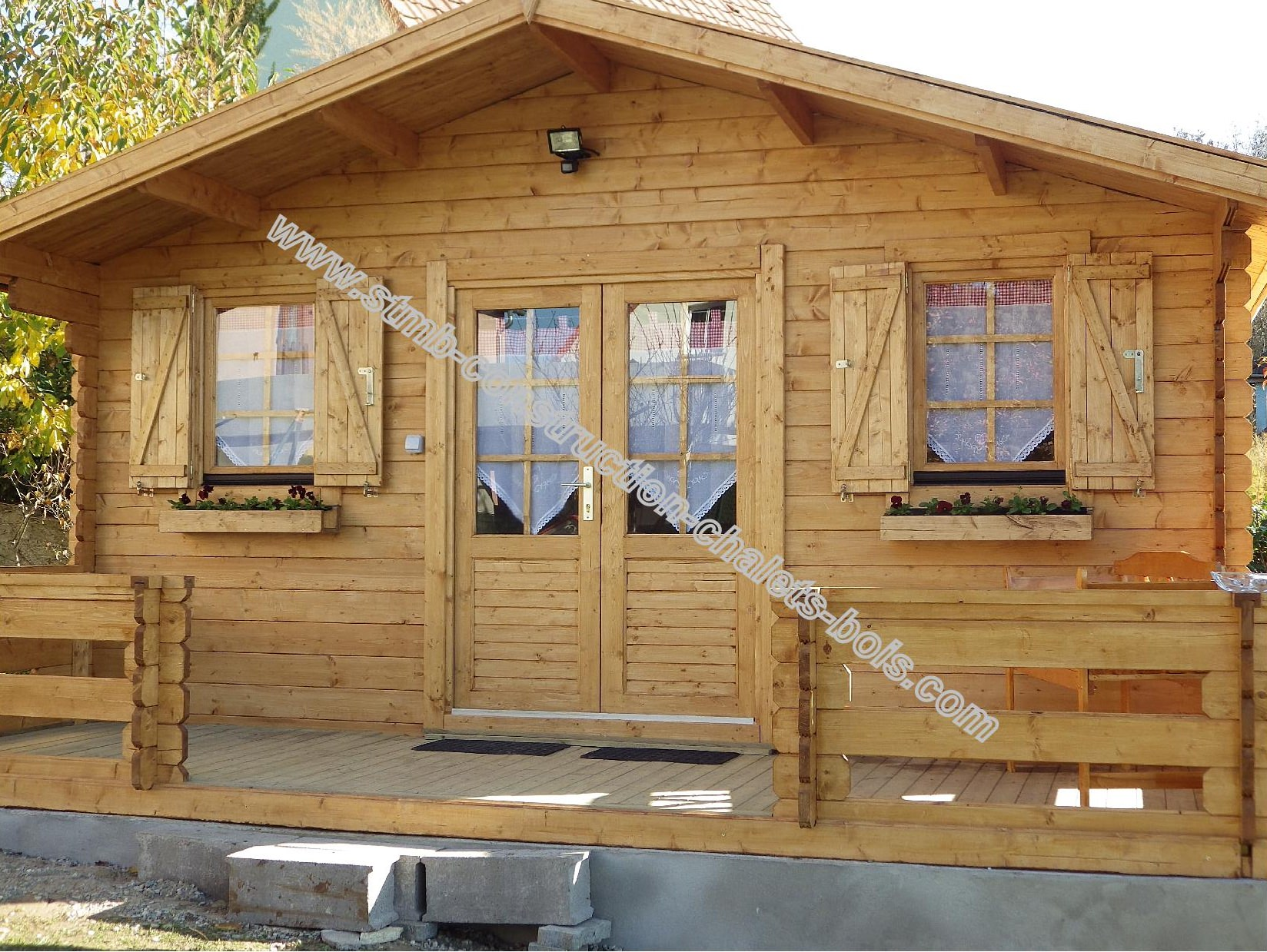 Chalet 20m2 for Chalet prix construction