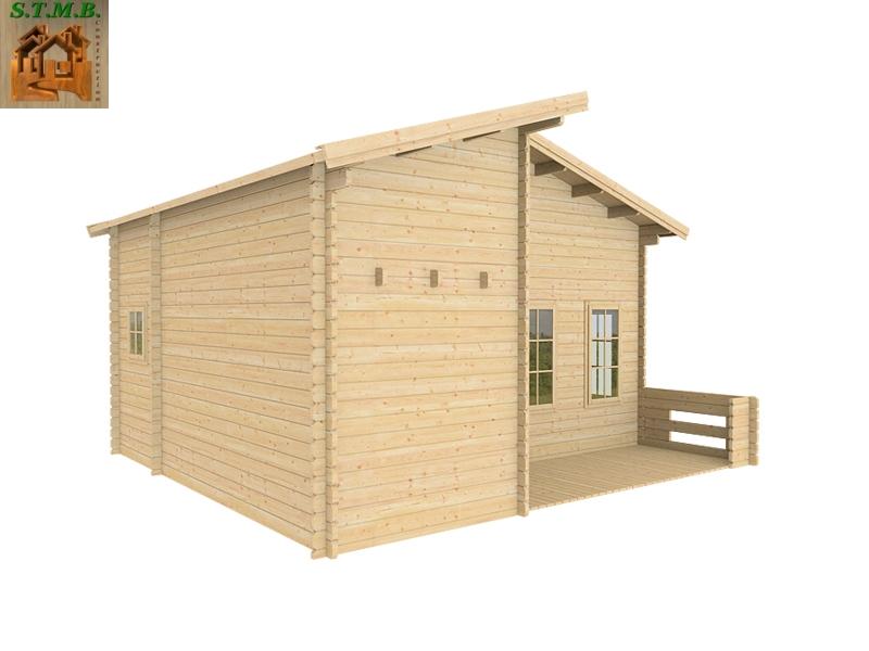 Chalet bois habitable en kit mod le orme 33 m2 avec mezzanine - Mezzanine en kit bois ...