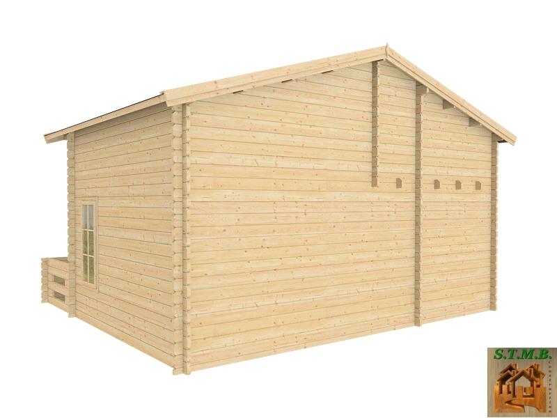 chalet bois habitable en kit mod le orme 33 m2 avec mezzanine. Black Bedroom Furniture Sets. Home Design Ideas