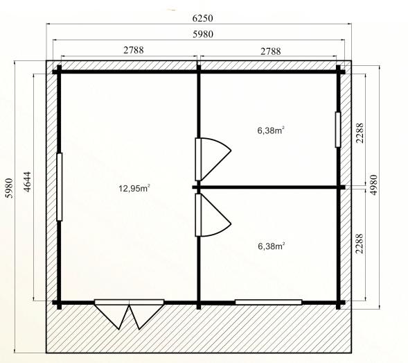 Chalet en bois en kit de 30 m avec mezzanine mod le peuplier - Petit chalet bois habitable ...