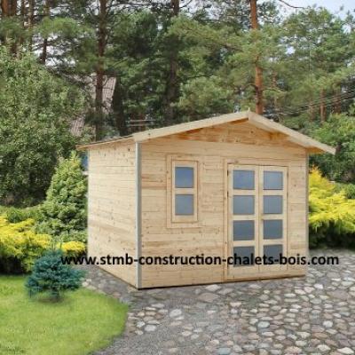 constructeur abri de jardin bois en kit 28mm. Black Bedroom Furniture Sets. Home Design Ideas
