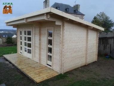 Photo 1 chalet bois toit plat stmb construction