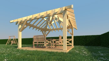 Photo 1 kiosque en bois stmb construction