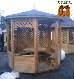 Photo 1 kiosque jardin bois stmb construction