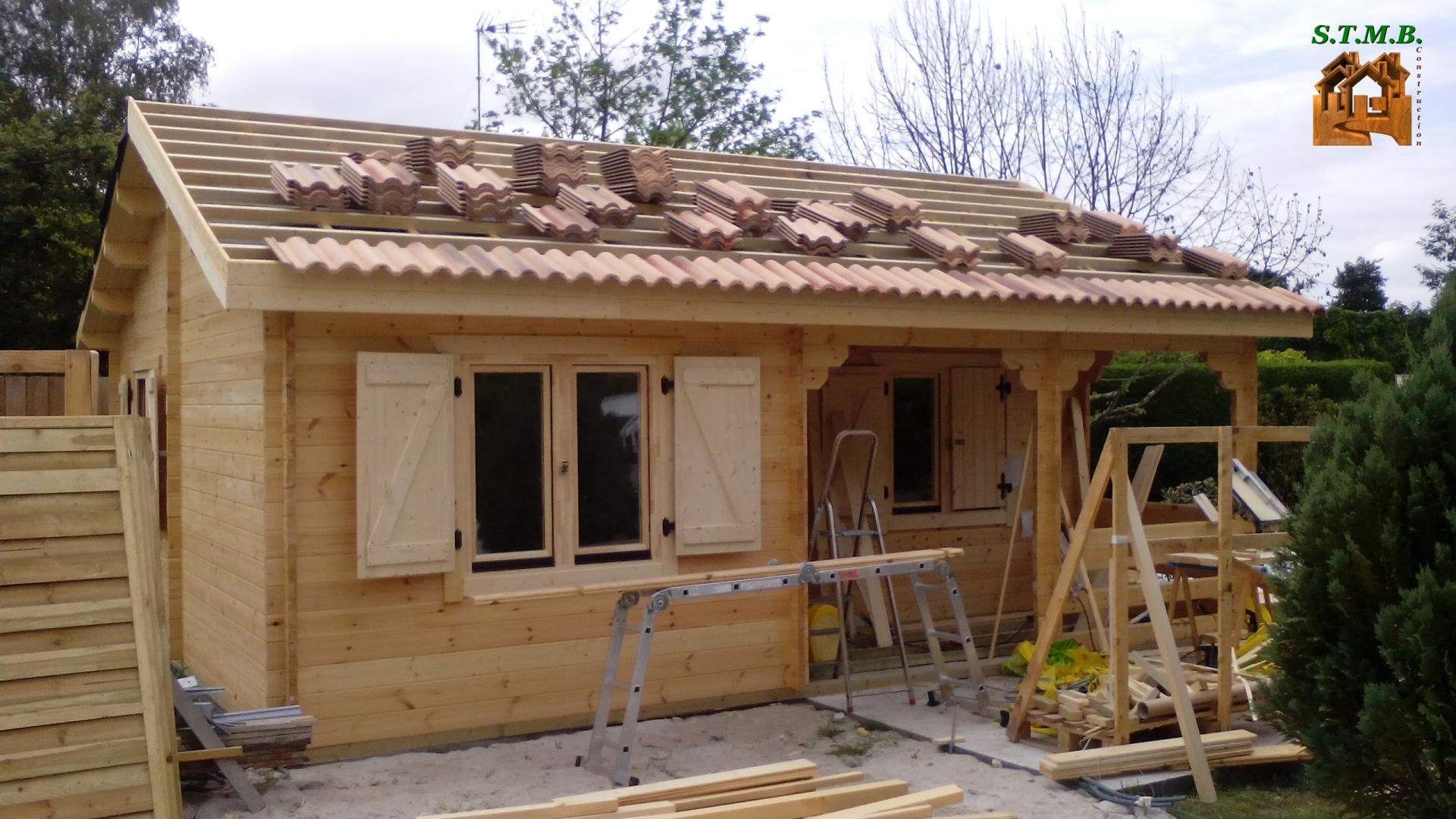 Chalet en bois habitable bordeaux 42 m2 stmb construction for Construction bois 22