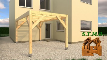 Photo 1 pergolas bois stmb construction 1