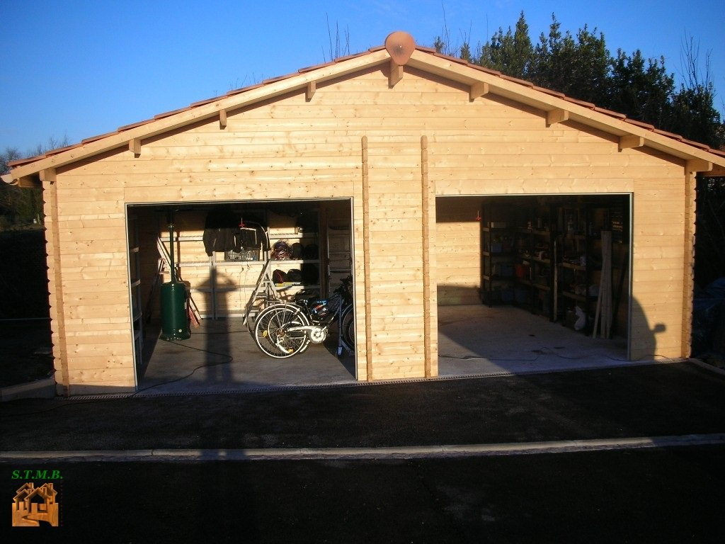 Garage 2 places twix m2 en kit livraison comprise for Construction garage double