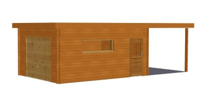 faire le choix d 39 un garage en bois en toit plat stmb construction. Black Bedroom Furniture Sets. Home Design Ideas