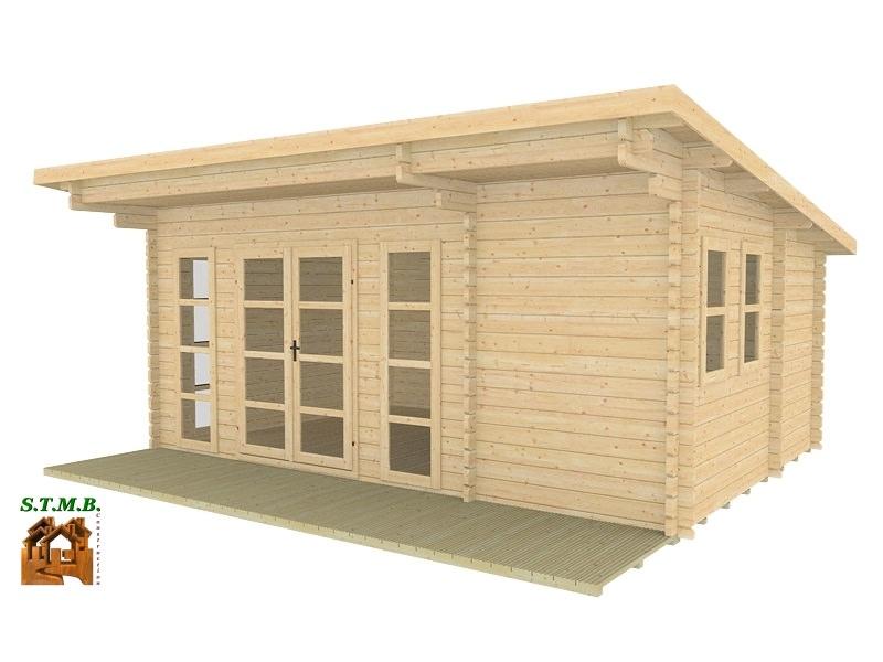 Chalet ou bureau de jardin en bois mod le sydni mini 19 for Bureau de jardin en bois