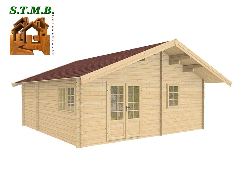 Chalet habitable de loisirs en kit mod u00e8le Chataignier 36 m u00b2 # Constructeur Chalet Bois Habitable