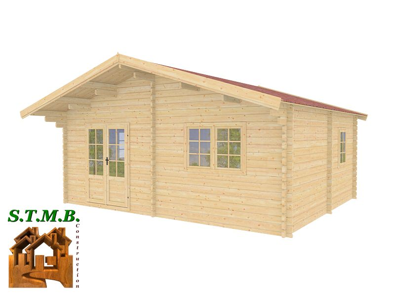 chalet en bois en kit mod le genevier 30 m2 direct usine. Black Bedroom Furniture Sets. Home Design Ideas