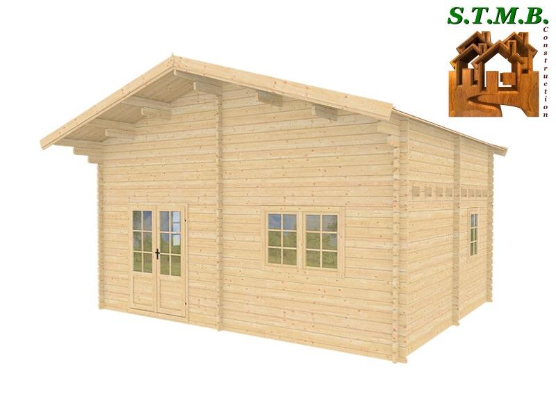 Chalet en bois en kit de 30 m avec mezzanine mod le peuplier for Construction en bois pdf