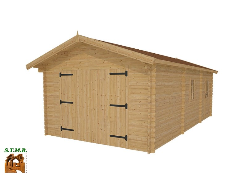 Kit Garage Bois De  M Avec Espace Rangement De  M