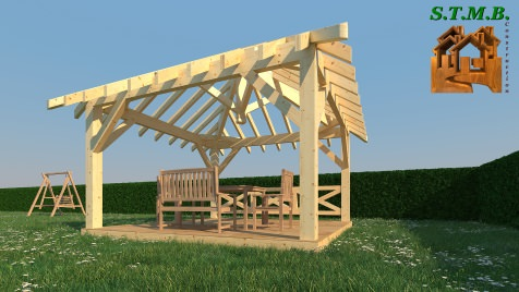 Photo 2 pergola bois stmb construction