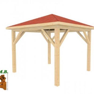 Pergolas bois en kit, pergola de jardin en bois