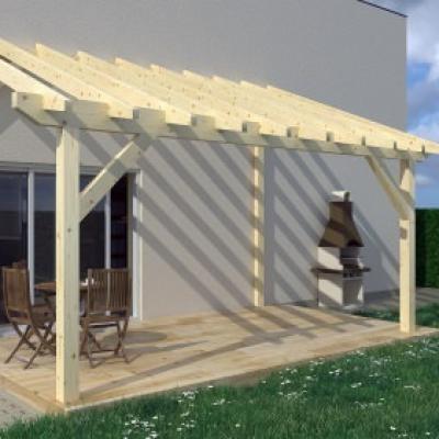 pergolas bois en kit pergola de jardin en bois. Black Bedroom Furniture Sets. Home Design Ideas