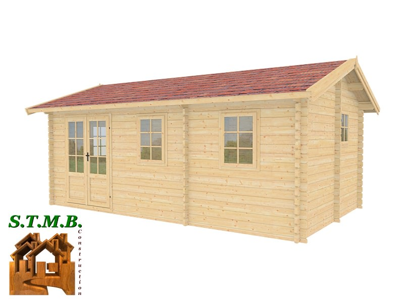 Chalet de loisir mod le h tre 22 en madriers de 44 ou 68 mm for Construction bois 22
