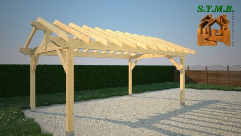 Photo 3 pergola bois stmb construction