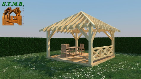 construire une pergola en bois construire sa veranda en. Black Bedroom Furniture Sets. Home Design Ideas