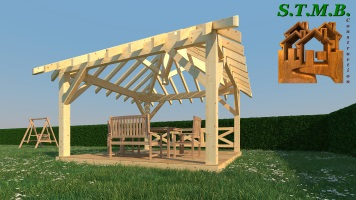 Photo 4 kiosque jardin bois stmb construction