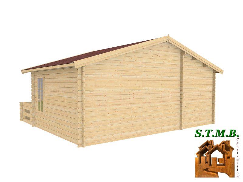 Chalet 33 m2 en bois habitable de loisirs en kit avec terrasse for Construction chalet bois 05