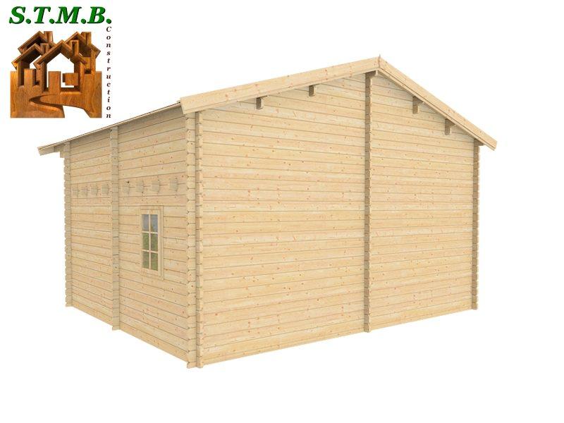 Chalet en bois en kit de 30 m avec mezzanine mod le peuplier for Construction bois 68