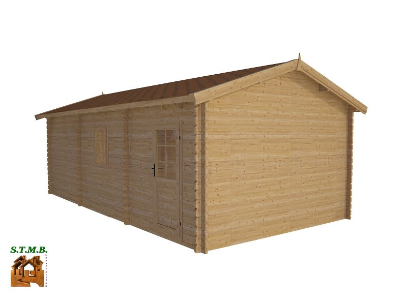 kit garage bois de m avec espace rangement de m. Black Bedroom Furniture Sets. Home Design Ideas