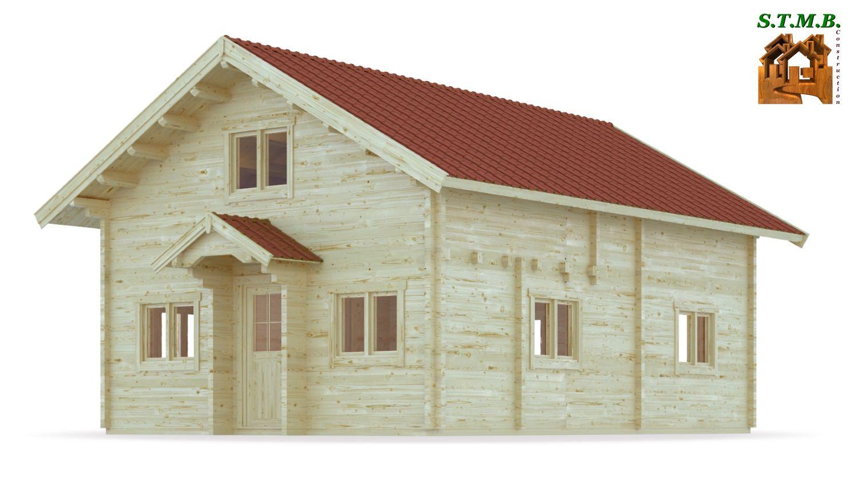 Chalet habitable de prestige avec mezzanine de 68 m u00b2 en kit # Constructeur Chalet Bois Habitable