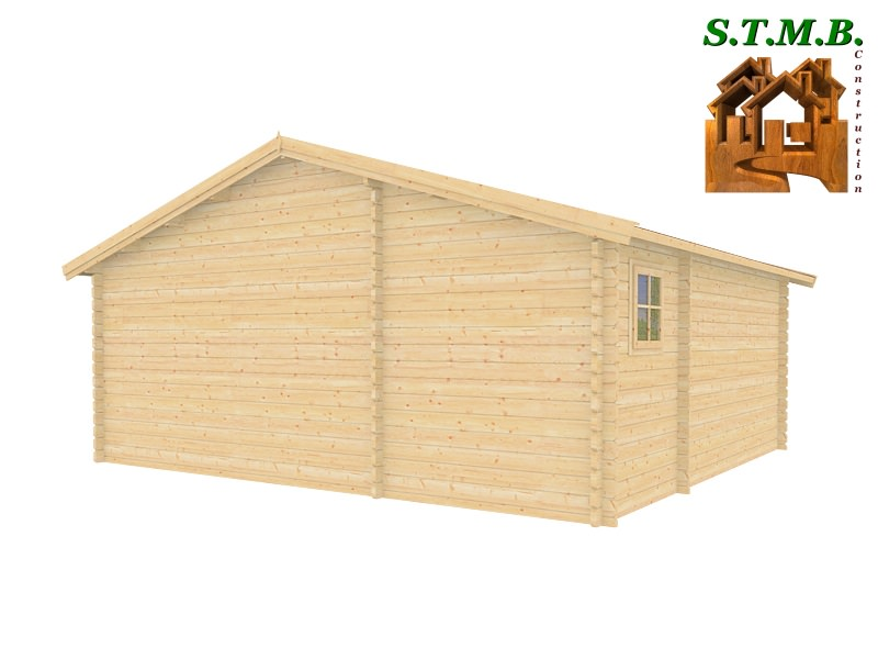 Chalet 33 m2 en bois habitable de loisirs en kit avec terrasse # Constructeur Chalet Bois Habitable