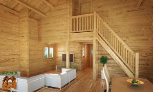 Photo 5 mezzanine chalet bois stmb construction