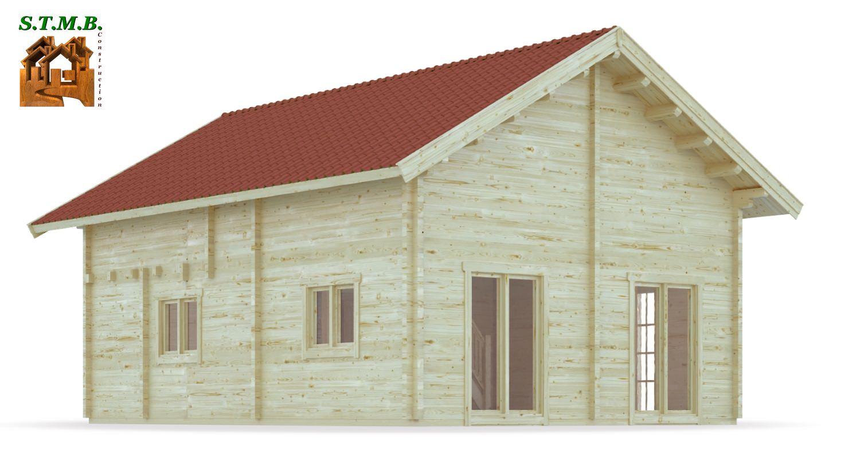 Chalet habitable de prestige avec mezzanine de 68 m en kit for Fabricant de chalet bois
