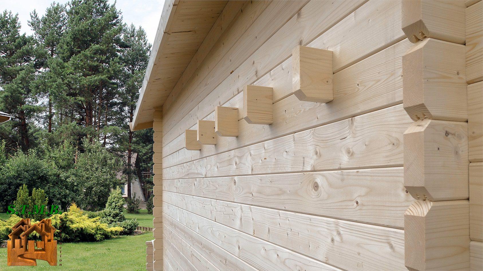 Kit chalet bois sans permis de construire 20 m2 avec mezzanine for Fabricant de chalet bois